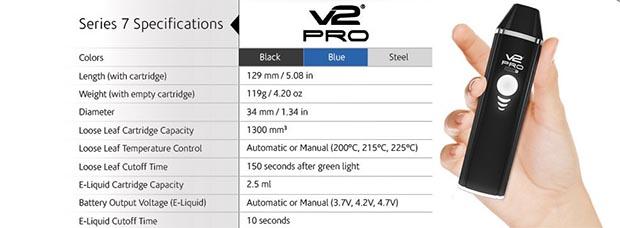 V2 Pro 7 Specs